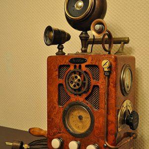 bobbin radijo imtuvas steampunk