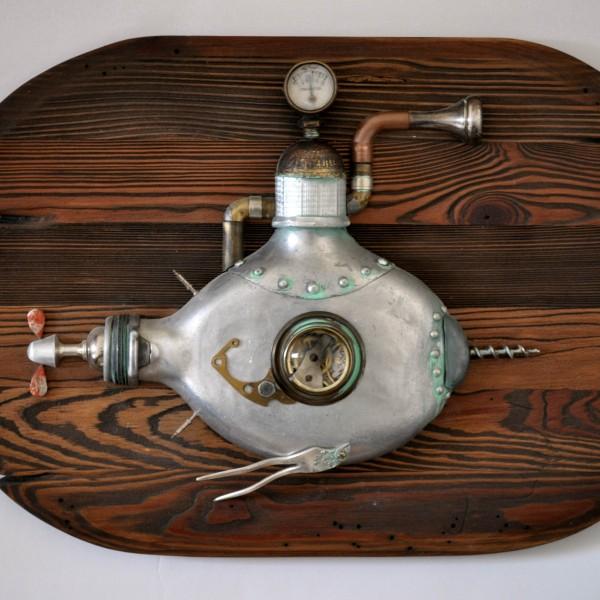 batiskafas steampunk paveikslai asambliazas