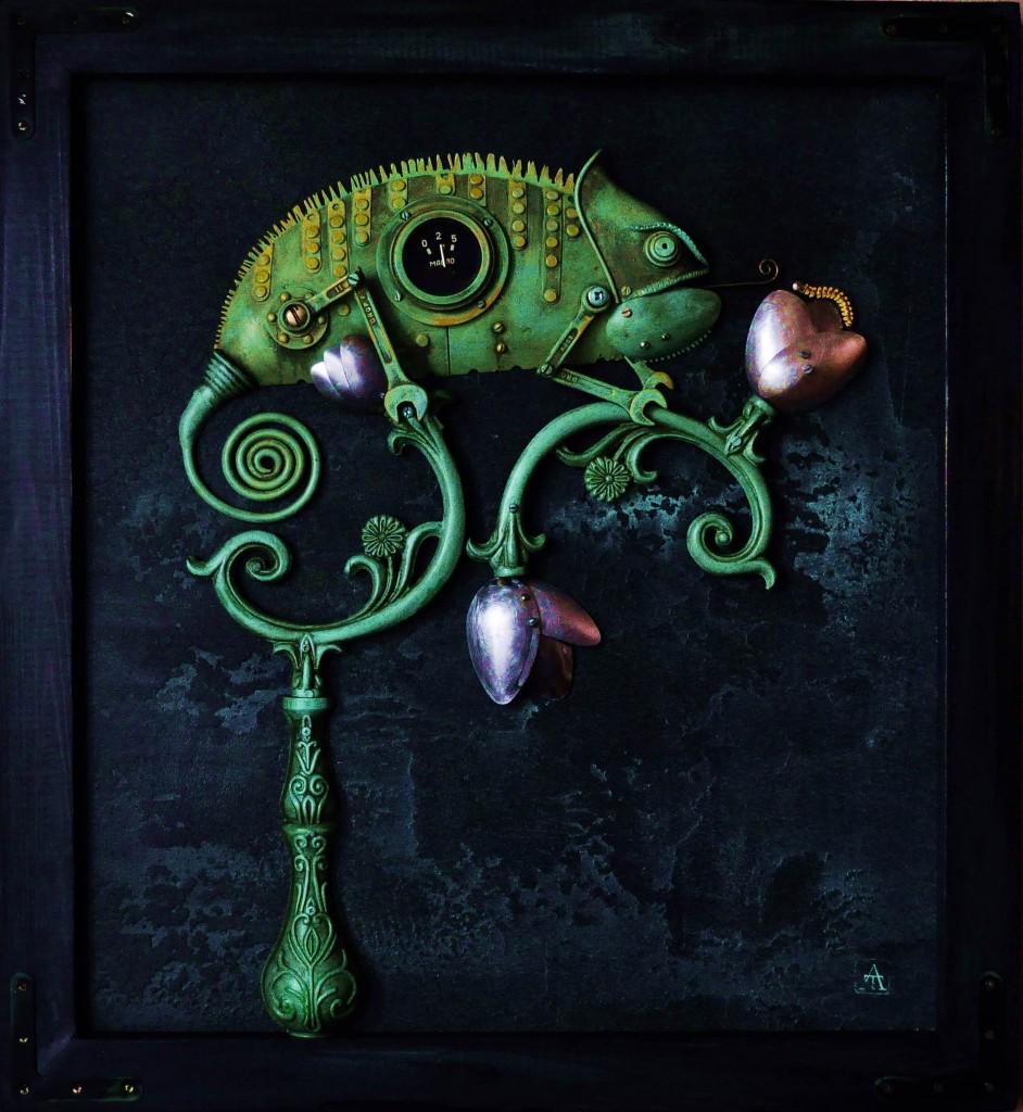 chameleonas steampunk