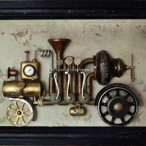 steam machine steampunk paveikslai asambliazas