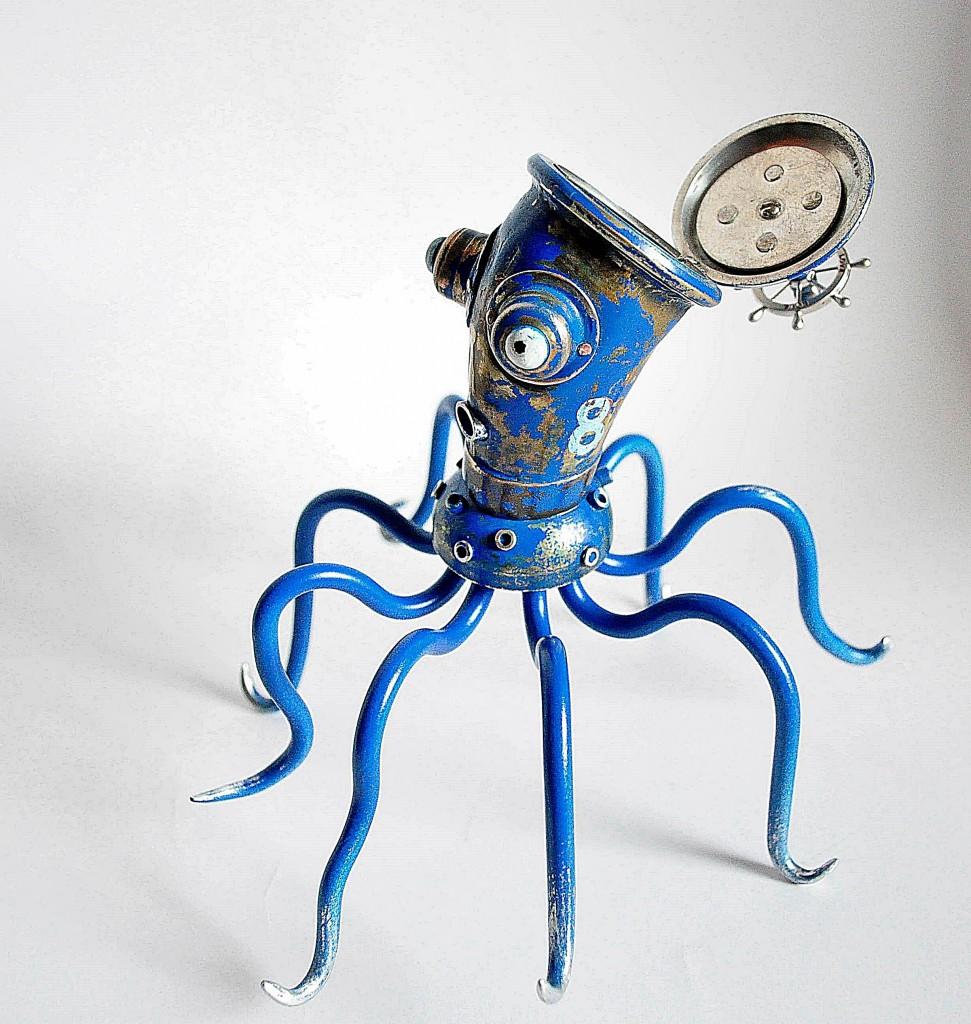 astuonkojis melynas steampunk papuosalu dezute