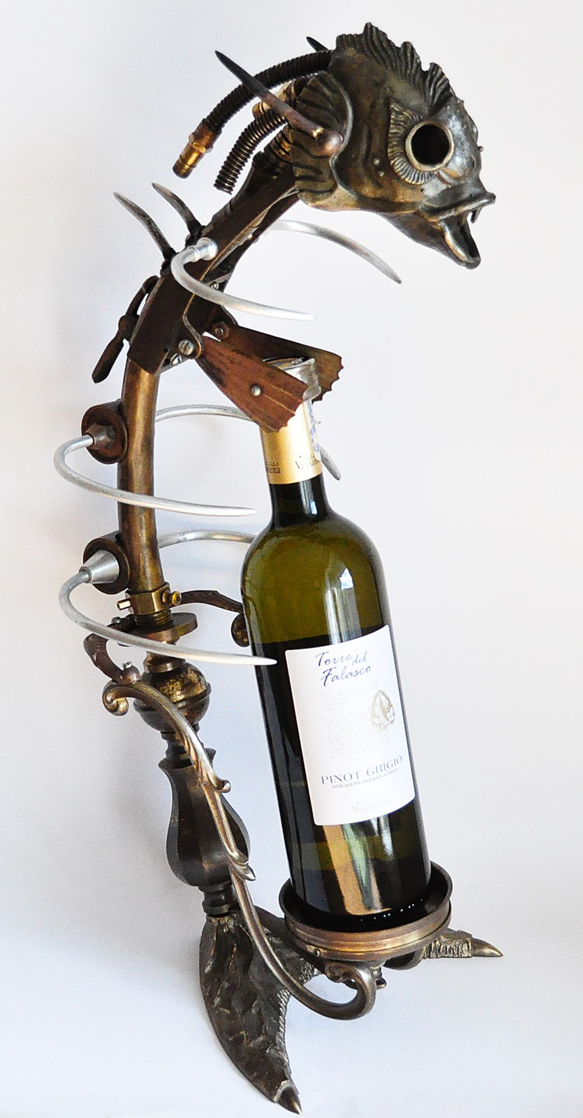 steampunk wine rack