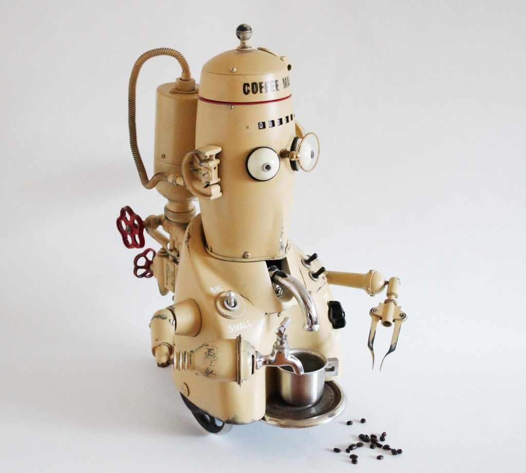 coffee man steampunk