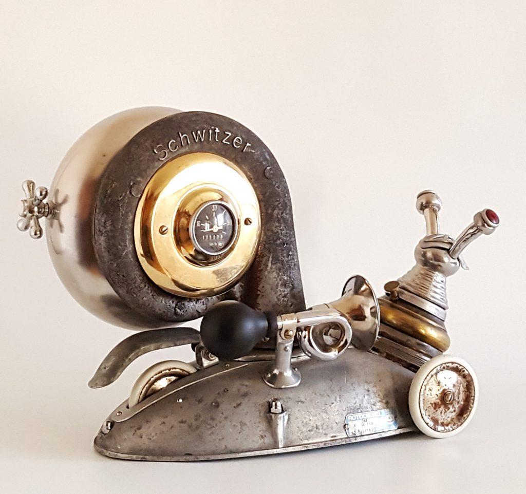 Snail metal sculpture