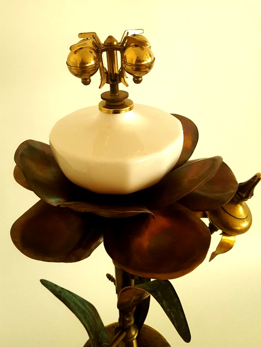 flower from brass