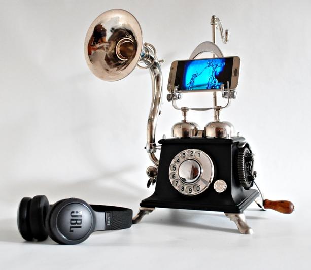 steampunk music phone